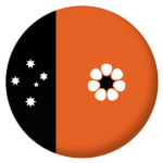 Northern Territory Flag 25mm Pin Button Badge